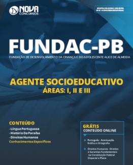 Apostila FUNDAC-PB 2019 - Agente Socioeducativo - Áreas I II e III